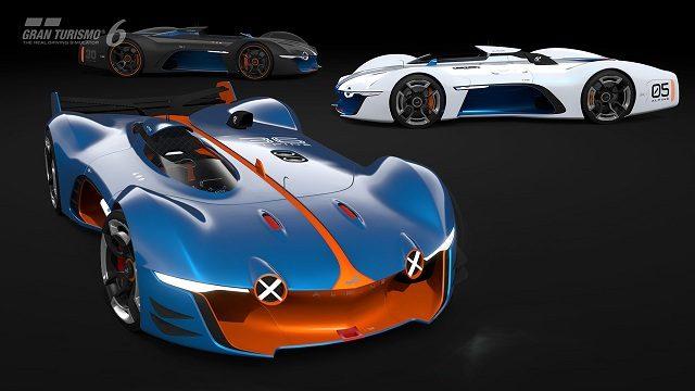 """『グランツーリスモ6』1.17アップデートで「レクサス LF-LC GT """"Vision Gran Turismo""""」、「アルピーヌ ビジョン グランツーリスモ」などを公開!"""