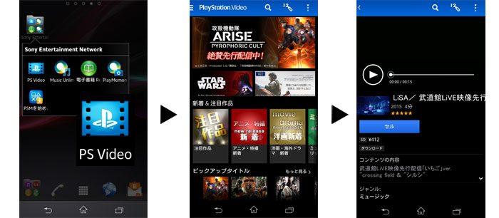 PlayStation™Videoアプリケーション