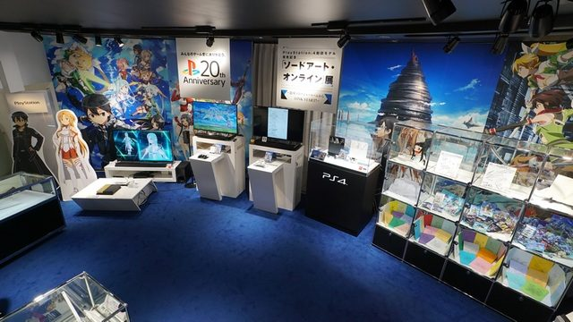 銀座ソニーショールームからLINK START! PS4®刻印モデル発売記念「ソードアート・オンライン」展が開催中!