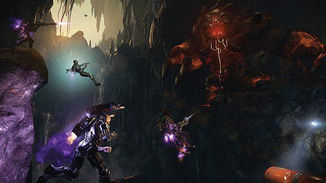 お手頃価格で4対1の変則マルチプレイを遊びつくせ! 追加DLCを収録したPS4®『EVOLVE Ultimate Edition』本日発売!