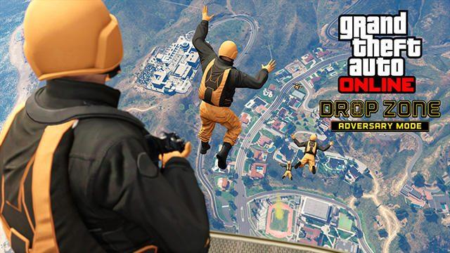 PS4®「GTAオンライン」に敵対モード「ドロップゾーン」が追加! 降下兵となりエリアを制圧せよ!