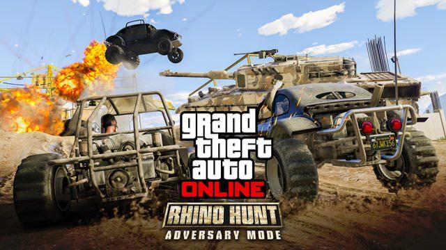 PS4®「GTAオンライン」に新敵対モード「ライノ狩り」が登場! 戦車チームとハンターチームの激戦を楽しもう!
