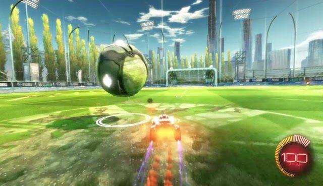 「ブースト」ボタンでエネルギーを使ってスピードアップ!!エネルギーはコートで手に入るぞ。急いで守備に戻りたいときや、おもいっきりボールをふっとばしたいときに使え!!