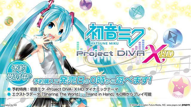 PS4®『初音ミク -Project DIVA- X HD』ダウンロード版の予約受付開始! エクストラデータのセットも付属!!