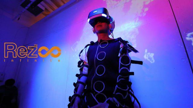 【PS VR】『Rez Infinite』イベントでVRモードを試遊できる! 「シナスタジアスーツ」で究極の共感覚体験!