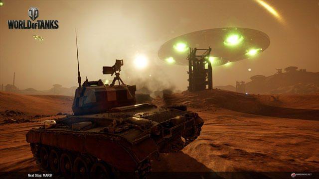 必見! 戦車が火星を駆け巡る! PS4®『World of Tanks』特別イベント「月の次は火星を征服!」開催!