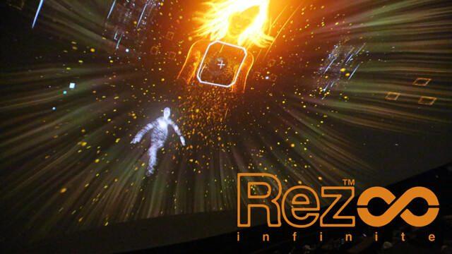 【PS VR】『Rez Infinite』のVR体験を100人で共有! 「VR to Dome 実験: Rez Infinite」レポート!