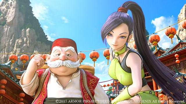 女武闘家マルティナと謎の老人ロウ。『ドラゴンクエストXI』旅の仲間の実力やいかに!?