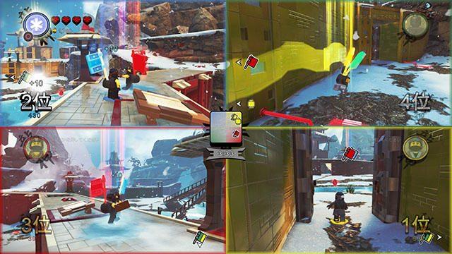 『レゴ®ニンジャゴー ムービー ザ・ゲーム』の「バトルアリーナ」は4人での画面分割オフライン対戦が可能!