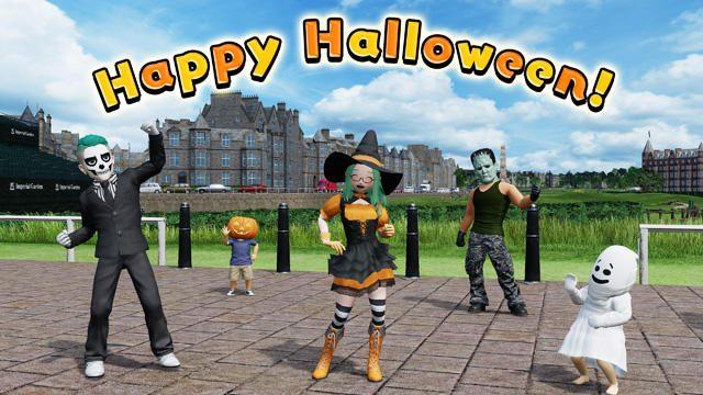 『New みんなのGOLF』にハロウィンがやって来た! 「ハロウィン衣装」を期間限定で配信開始!