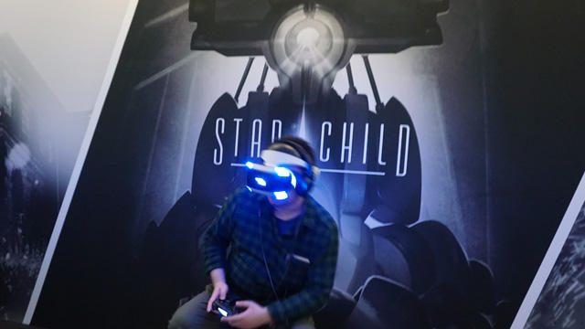 【PGW 2017】女性と巨大ロボとの出会いを自由な視点で俯瞰。PS VR『Star Child』プレイインプレッション
