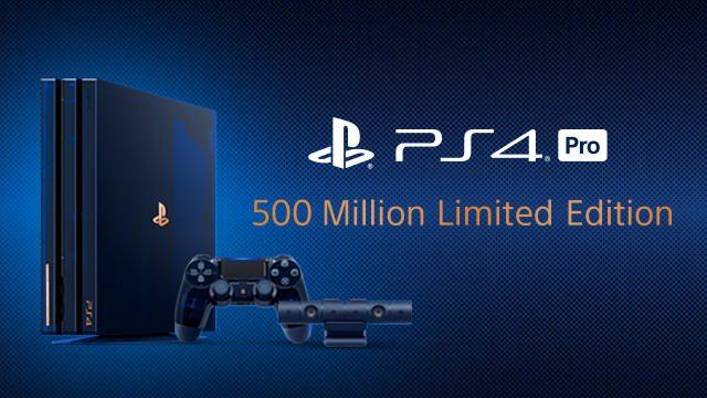特別デザインの「PlayStation®4 Pro 500 Million Limited Edition」を8月24日より数量限定で発売