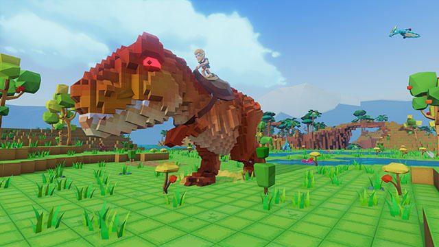 ブロックになったキュートな恐竜世界で自由気ままにサバイバル! PS4®『PixARK』が2019年夏に発売!