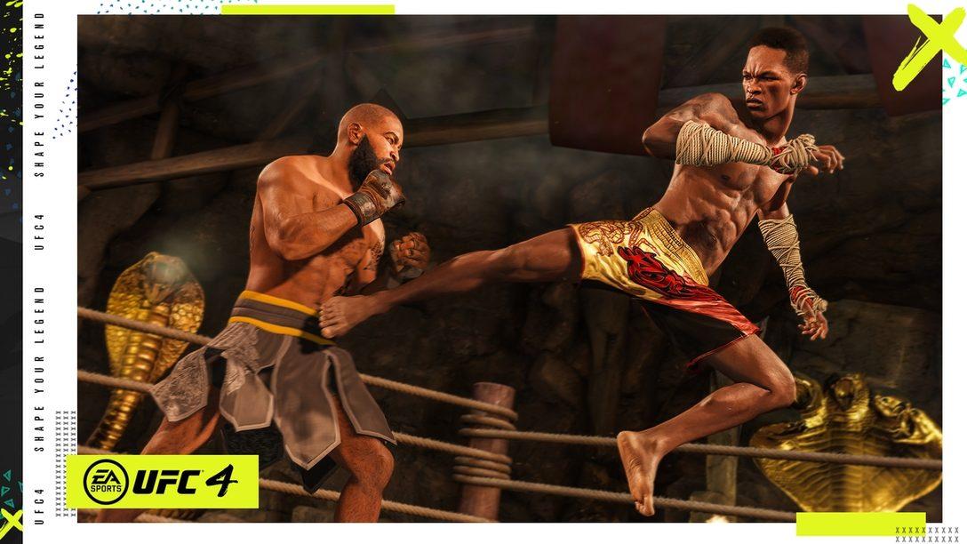 PS4®『EA SPORTS UFC 4』が8月14日発売! PS Storeで予約受付中。自分だけの伝説を残せ!