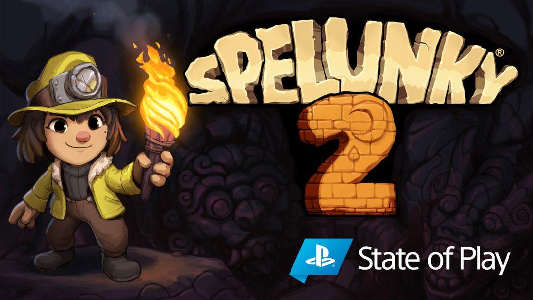 『Spelunky 2』、9月15日にPS4®でリリース。月へと向かう準備をして、次世代の洞くつ探検家たちに会おう
