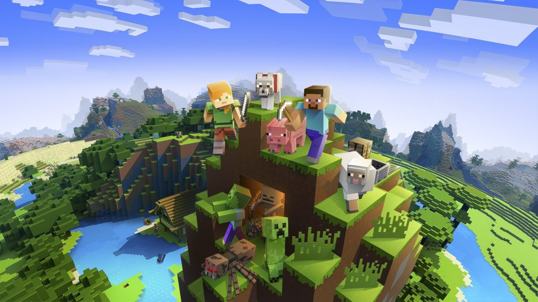 『Minecraft』がPlayStation®VRに登場! お馴染みのブロック世界を最高の没入体験で楽しもう!