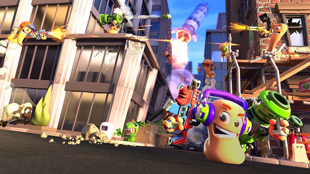 ミミズが戦う人気シリーズ最新作『Worms Rumble』プレイレビュー! 最大32人参加のアリーナバトルで頂点を目指す!