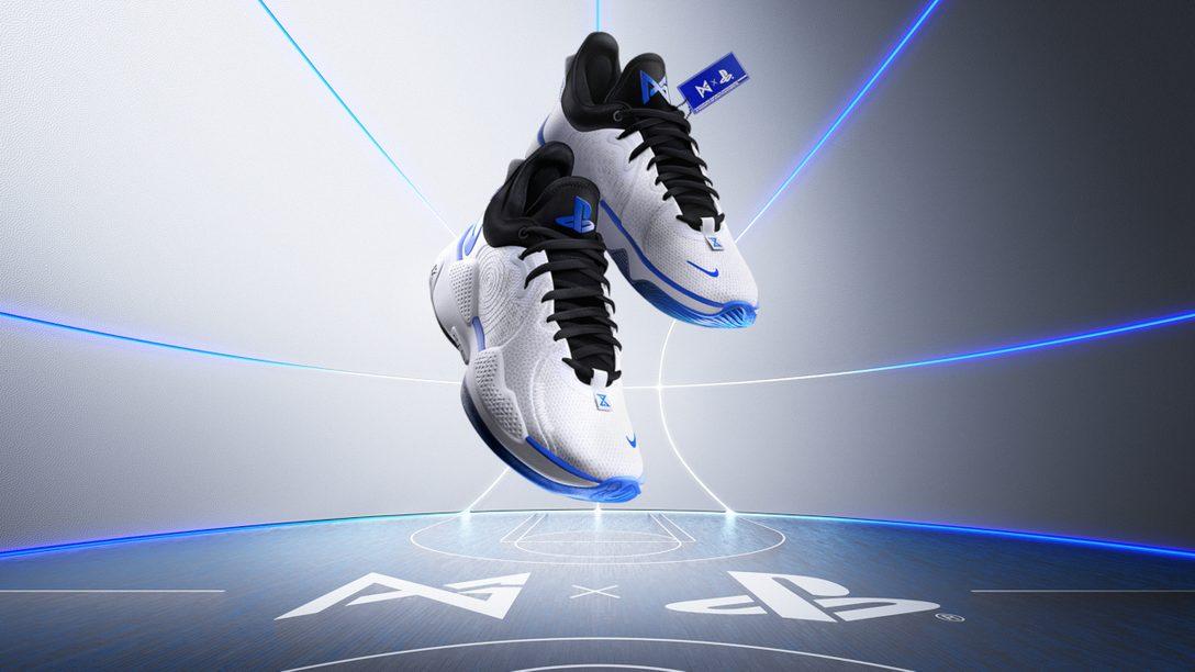 NBAのPaul George選手とPlayStation®のコラボレーションシューズが発売決定――オリジナルデザインの「PG 5 PS EP」が登場!