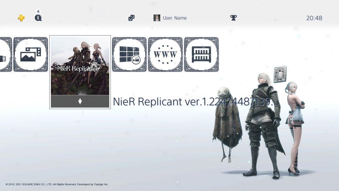 PS4®『NieR Replicant ver.1.22474487139...』の初回生産特典&早期ダウンロード特典が公開!