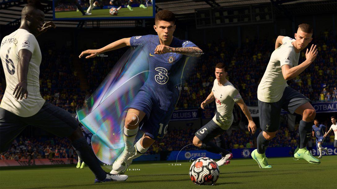 PS5™『FIFA 22』──DualSense™ ワイヤレスコントローラーや3Dオーディオがもたらすシリーズ史上最高のサッカー体験!
